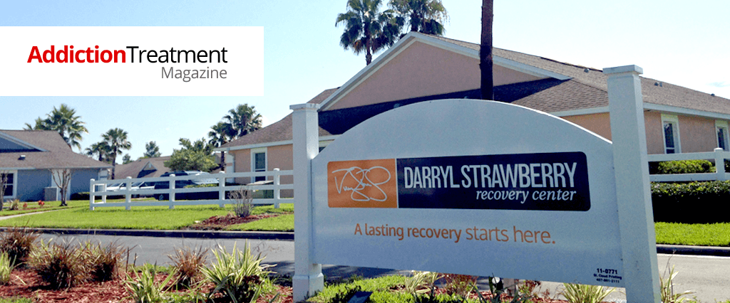 arryl strawberry recovery center featured in addiction treatment magazine
