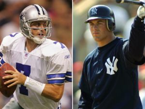 Drew Henson in his Cowboys and Yankees Uniforms